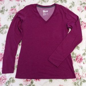 5/$25 🔴 Nike   long sleeve v-neck shirt